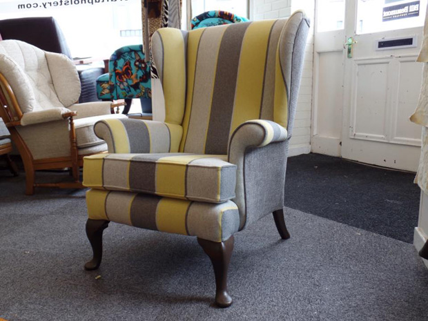Parker Knoll Armchair after reupholstery